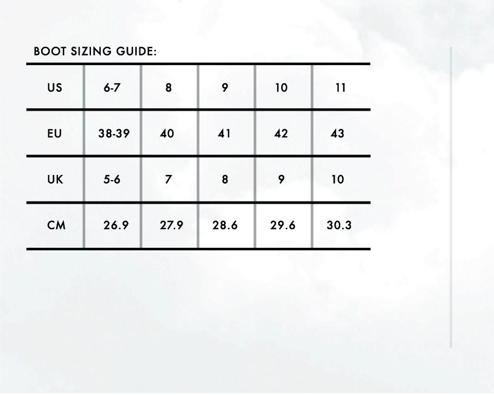 Size Charts 3
