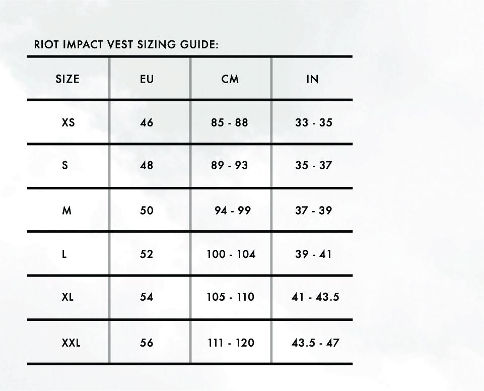 Size Charts 6